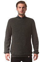 CARHARTT Fisher Knit Sweat black lawn heather patch: black