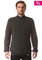 CARHARTT Fisher Knit Sweat black lawn heather patch: black