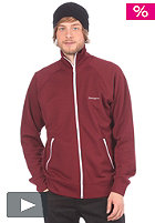 CARHARTT Gym Jacket Pique cranberry/white