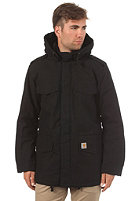 CARHARTT Hickman Coat black fabric washed