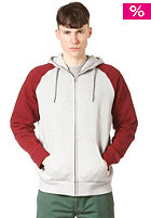 CARHARTT Holbrook Bi-Color Hooded Zip Sweat grey heather/cranberry