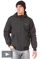 CARHARTT Hooded Sail Jacket nylon clear coating black/broken white