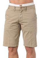 Johnson Bermuda Shorts Benson Twill Leather work washed