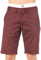 CARHARTT  Johnson Bermuda Shorts Cotton Twill eggplant