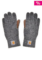 CARHARTT Logg Gloves dark grey heather/ camel