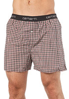 CARHARTT Logo Boxer Short pierce check/ cardinal