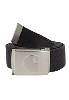 CARHARTT  Logo Clip Belt Chrome asphalt