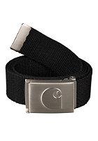 CARHARTT Logo Clip Belt Chrome black