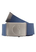 CARHARTT Logo Clip Chrome Belt ice blue