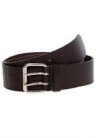 CARHARTT Military Leather Belt dark brown/silver/silver