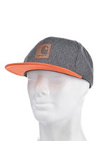 CARHARTT Neal Starter Cap dark grey Hth/ carhartt orange