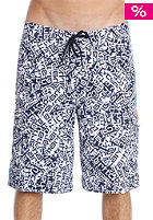 CARHARTT Ocean Board Short letter print white/navy/island