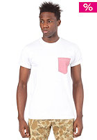 CARHARTT Oxford Pocket S/S T-Shirt white/red