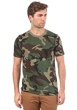 CARHARTT Pocket Camou S/S T-Shirt black/camo green
