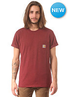 CARHARTT Pocket S/S T-Shirt bordeaux heather