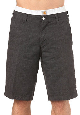 CARHARTT Presenter Bermuda Shorts Olympic Check black heavy rinsed