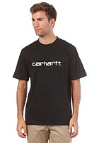 CARHARTT Script S/S T-Shirt black/ white