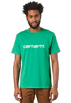 CARHARTT Script S/S T-Shirt ivy/white