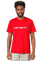 CARHARTT Script S/S T-Shirt red/white