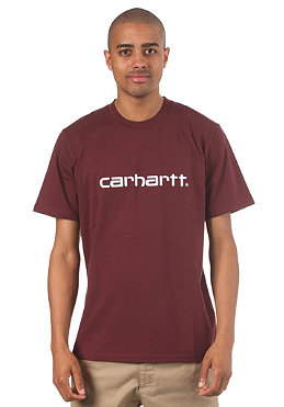 CARHARTT Script S/S T-Shirt wine/white