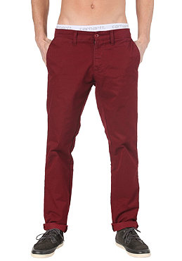 CARHARTT Sid Pant Lamar Twill cranberry light stone washed