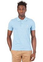 CARHARTT Slim Fit S/S Polo Shirt aquarium/white
