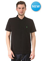CARHARTT Slim Fit S/S Polo Shirt black/lime green