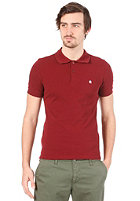 CARHARTT Slim Fit S/S Polo Shirt cranberry/white