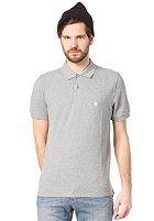 CARHARTT Slim Fit S/S Polo Shirt grey heather/white