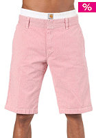 CARHARTT Unit Bermuda Shorts Yazoo Stripe red stone washed