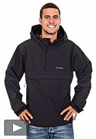 CARHARTT Windbreaker Pullover Jacket unlined black/broken white