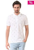 CARHARTT WIP Economy Polo Shirt economy print, white/black