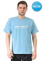 CARHARTT Wip Script S/S T-Shirt columbia/white