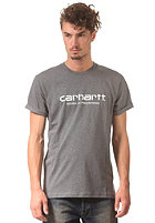 CARHARTT Wip Script S/S T-Shirt dark grey heather/white