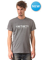 CARHARTT Wip Script S/S T-Shirt dark grey heather/white