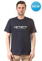 CARHARTT Wip Script S/S T-Shirt duke blue/white