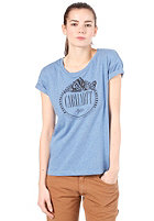 CARHARTT Womens Badger S/S T-Shirt blue heather/black