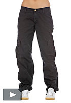 CARHARTT Womens Cargo Pant black stone washed
