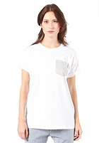 CARHARTT Womens Contrast Pocket S/S T-Shirt white/light grey heather