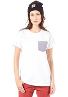 CARHARTT Womens Counter Pocket S/S T-Shirt white/loft stripe, blue