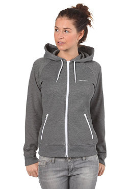 CARHARTT Womens Gym Hooded Jacket Pique dark grey heather/white