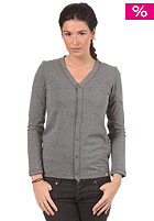 CARHARTT Womens Jersey Cardigan Jacket dark grey heather
