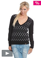 CARHARTT Womens Kings Joker V-Neck Sweatshirt black/white check