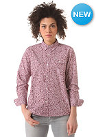 CARHARTT Womens Langley L/S Shirt cordovan flora allover print, rinsed