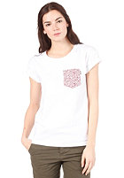 CARHARTT Womens Orchid Pocket S/S T-Shirt white/orchid print, varnish