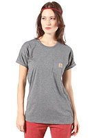 CARHARTT Womens Pocket Heather S/S T-Shirt dark grey heather