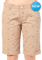 CARHARTT Womens Presenter Bermuda Short aldux print, leather/soot
