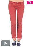 CARHARTT Womens Recess Pant Delano Stretch Color Denim Indiana red stone washed
