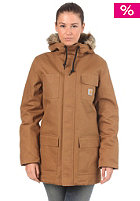 CARHARTT Womens Siberian Parka Jacket hamilton brown rigid