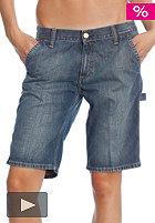 Womens Single Knee Bermuda Shorts la cot denim 10oz blue laundry washed